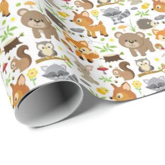 Papier Cadeau Papier d'emballage - animaux 2 de forêt