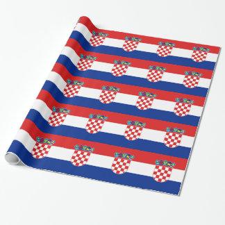 Papier Cadeau Papier d'emballage avec le drapeau de la Croatie