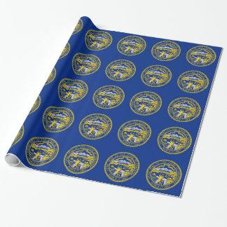 Papier Cadeau Papier d'emballage avec le drapeau du Nébraska