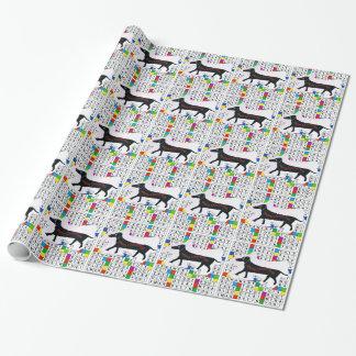 Papier Cadeau Papier d'emballage avec les mots croisé et le