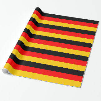 Papier Cadeau Papier d'emballage barré par Flagge allemand de