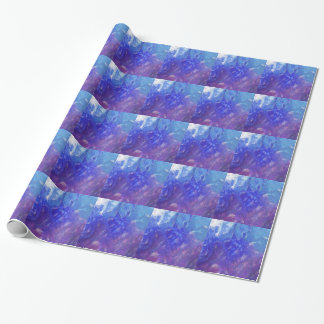 Papier Cadeau Papier d'emballage bleu de peinture pourpre