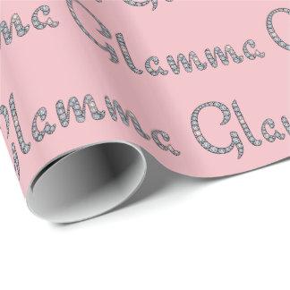 Papier Cadeau Papier d'emballage bling de Glamma