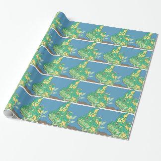 Papier Cadeau Papier d'emballage brillant voilé de caméléon