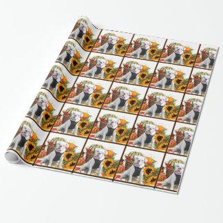 Papier Cadeau Papier d'emballage cadeau de chiot de bouledogue