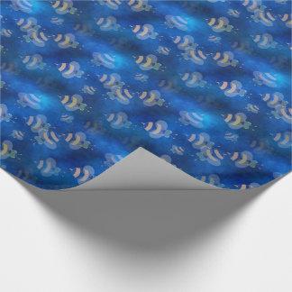 Papier Cadeau papier d'emballage d'abeille bleue de bourdon