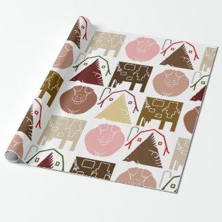 Papier Cadeau Papier d'emballage d'animal de ferme
