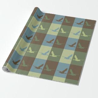 Papier Cadeau Papier d'emballage d'art de bruit de canard de vol