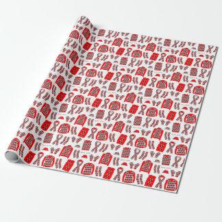 Papier Cadeau Papier d'emballage d'articles à motifs de losanges