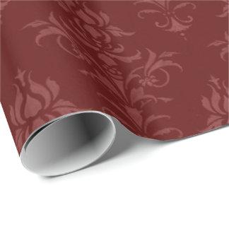 Papier Cadeau Papier d'emballage de Bourgogne de style vintage