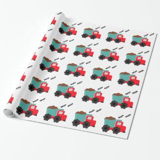 Papier Cadeau Papier d'emballage de camion à benne basculante de