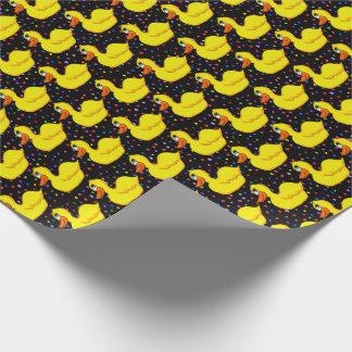Papier Cadeau Papier d'emballage de canard jaune