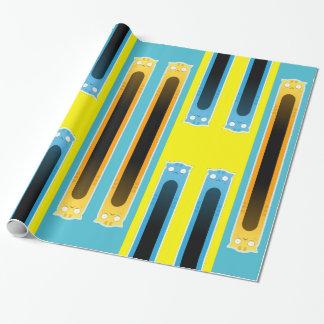 Papier Cadeau Papier d'emballage de chat bleu de gingembre