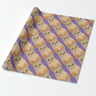 Papier Cadeau Papier d'emballage de chat de gingembre (petit