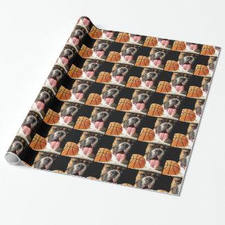 Papier Cadeau Papier d'emballage de chien de boxeur de