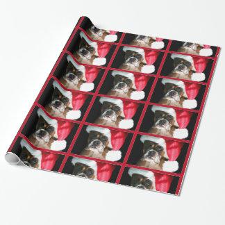 Papier Cadeau Papier d'emballage de chien de boxeur de Noël