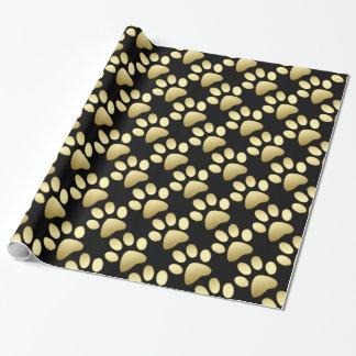 Papier Cadeau Papier d'emballage de chien de motif chic de