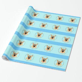Papier Cadeau Papier d'emballage de chien mignon