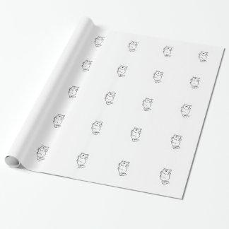 Papier Cadeau Papier d'emballage de chinchilla