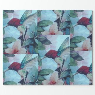 Papier Cadeau Papier d'emballage de colibri
