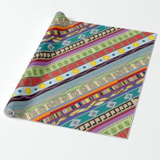 Papier Cadeau Papier d'emballage de concepteur tribal de