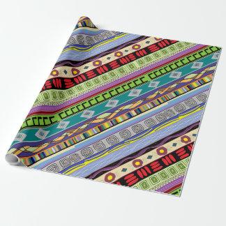 Papier Cadeau Papier d'emballage de concepteur tribal de Mapocho