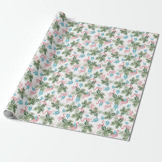Papier Cadeau Papier d'emballage de conception de flamant