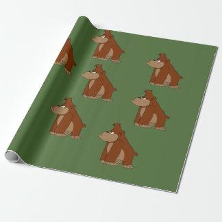 Papier Cadeau Papier d'emballage de conception de gorille