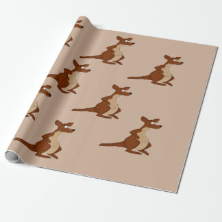 Papier Cadeau Papier d'emballage de conception de kangourou