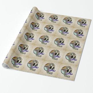 Papier Cadeau Papier d'emballage de crâne de sucre de moustache