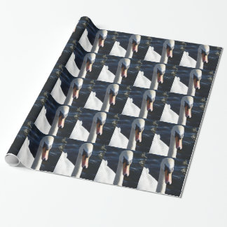 Papier Cadeau Papier d'emballage de cygne blanc