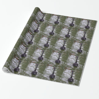 Papier Cadeau Papier d'emballage de cygne noir