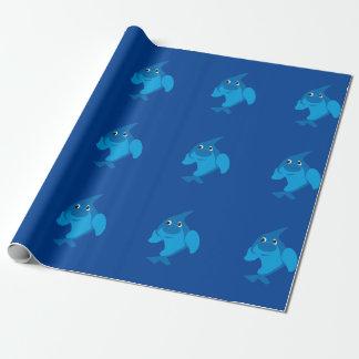 Papier Cadeau Papier d'emballage de dauphin mignon
