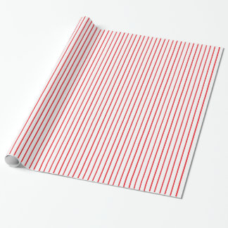 Papier Cadeau Papier d'emballage de filet rouge et blanc