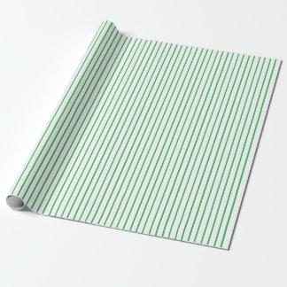 Papier Cadeau Papier d'emballage de filet vert et blanc