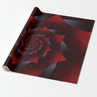 Papier Cadeau Papier d'emballage de fractale en spirale foncée
