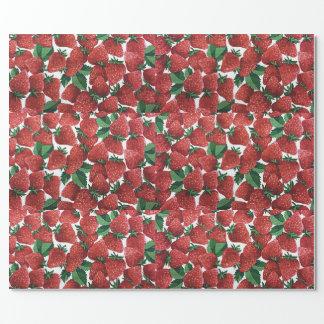 Papier Cadeau Papier d'emballage de fraise
