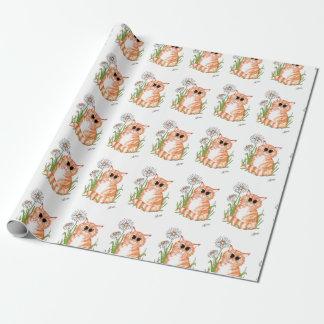 Papier Cadeau Papier d'emballage de gingembre de marguerite