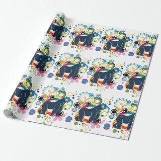 Papier Cadeau Papier d'emballage de gorille abstrait