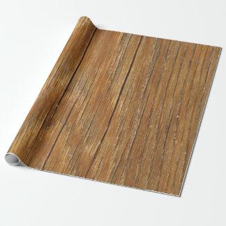 Papier Cadeau Papier d'emballage de grain en bois
