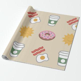 Papier Cadeau Papier d'emballage de grand petit déjeuner de