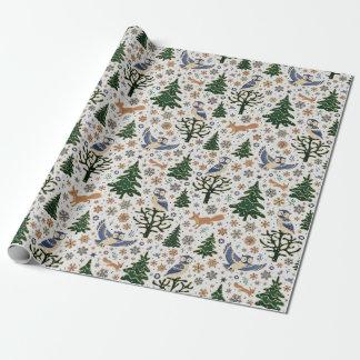 Papier Cadeau Papier d'emballage de hibou d'animaux de forêt de