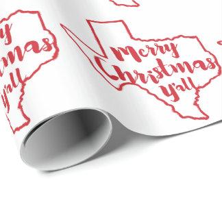 Papier Cadeau Papier d'emballage de Joyeux Noël d'état du Texas