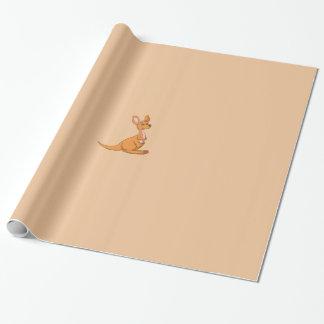 Papier Cadeau Papier d'emballage de kangourou