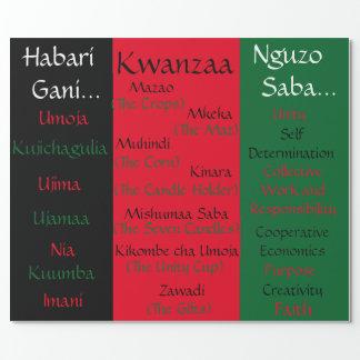 Papier Cadeau Papier d'emballage de Kwanzaa Zawadi