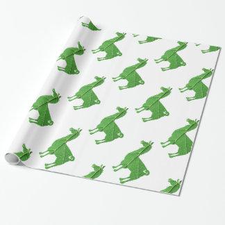 Papier Cadeau Papier d'emballage de lama de feuille