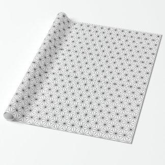 Papier Cadeau Papier d'emballage de motif de Japonais d'Asanoha