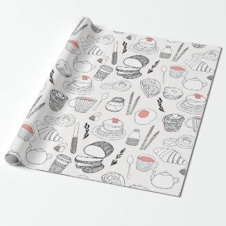 Papier Cadeau Papier d'emballage de motif de nourritures de