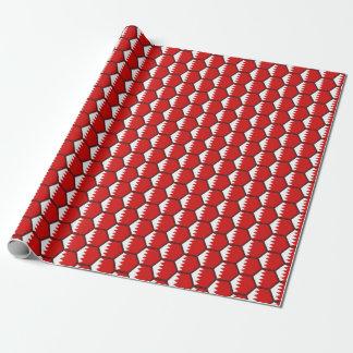 Papier Cadeau Papier d'emballage de nid d'abeilles de drapeau du