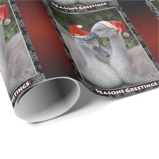Papier Cadeau Papier d'emballage de Noël de jeune cygne - Noël